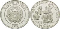 1 Pa´anga 1990, Tonga, William Schouten, Jakob le Maire - Segelschiff, ... 28,00 EUR kostenloser Versand