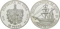 Kuba, 10 Pesos Kubanische Postgeschichte - Besegeltes Dampfschiff,