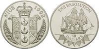 """10 Dollars 1992, Niue, Segelschiff """"The Resolution"""", PP  29,00 EUR kostenloser Versand"""
