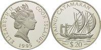 20 Dollars 1995, Cook Inseln, Geschichte der Seefahrt - Katamaran der T... 29,00 EUR kostenloser Versand