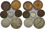 Kanada, Lot 1-50 Cents Lot 7 Stück Kleinmünzen, Georg V (1910-1936),