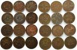China, Lot 10 Cash(Wen) Lot 12 Stück, Cent, Kaiserreich & Republik, 10 Käsch, verschiedene Typen,