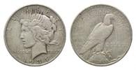 USA, Dollar 1934 D f.ss Peace,