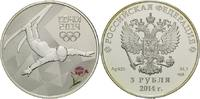 Russland, 3 Rubel 2014, st/PP Olympische Winterspi