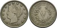 USA, Liberty Head, 5 Cents 1896, vz+