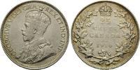 Kanada, 25 Cents 1914, ss-vz Georg V., 1910-1936,