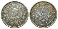 Marokko, 500 Francs 1376 AH =1956, ss Mohammed V.,