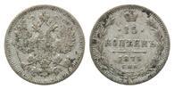 15 Kopeken 1864,  Russland, Alexander II., 1855-1881, ss  36,00 EUR kostenloser Versand