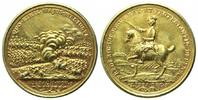 Brandenburg-Preussen, Vergold. Br.-Medaille 1757,