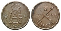 1/2 Skilling 1803 Schweden, Gustaf IV. Adolf, 1792-1809, f.vz  45,00 EUR kostenloser Versand