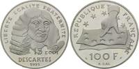 Frankreich, 100 Francs = 15 Ecus Bedeutende Europäer - Descartes,