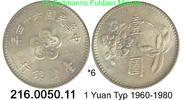 China Taiwan Formosa 1 Yuan  . *6 Pflaumenblüte