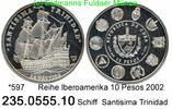 Cuba Kuba 10 Pesos  . *597 Iberoamerika Schiff