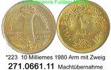 Egypt Ägypten 10 Milliemes *223 Arm mit Zweig . .  271.661.11