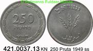 Israel 250 Pruta *11 KM15 mit Perle, Weizenähren