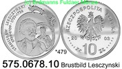 Poland Polen 10 Zloty *479 KMY474 Leszczynski Brustbild . 575.0678.10