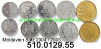 Moldavia Moldova Moldawien 1+5+10+25+50 Bani *1,*2,*3,*4,*6, Kursmünzensatz . 510.0129.55