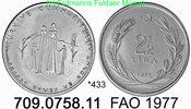 Turkey Türkei 2 1/2 Lira *433 KM910 FAO Familienplanung