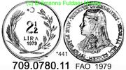 Turkey Türkei 2 1/2 Lira *441 FAO Anatolische Braut . 709.0780.11