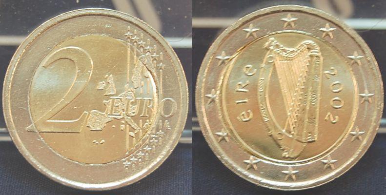 2 Euro Irland Pille Versetzt 2002 Irland 2 Euro Irland 2 Euro