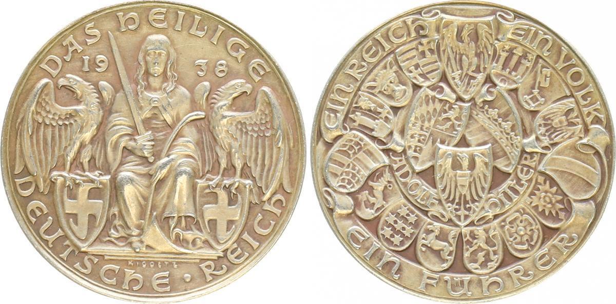 Götz Medaille 1938 Das Heilige Deutsche Reich 1938 Deutschland Götz