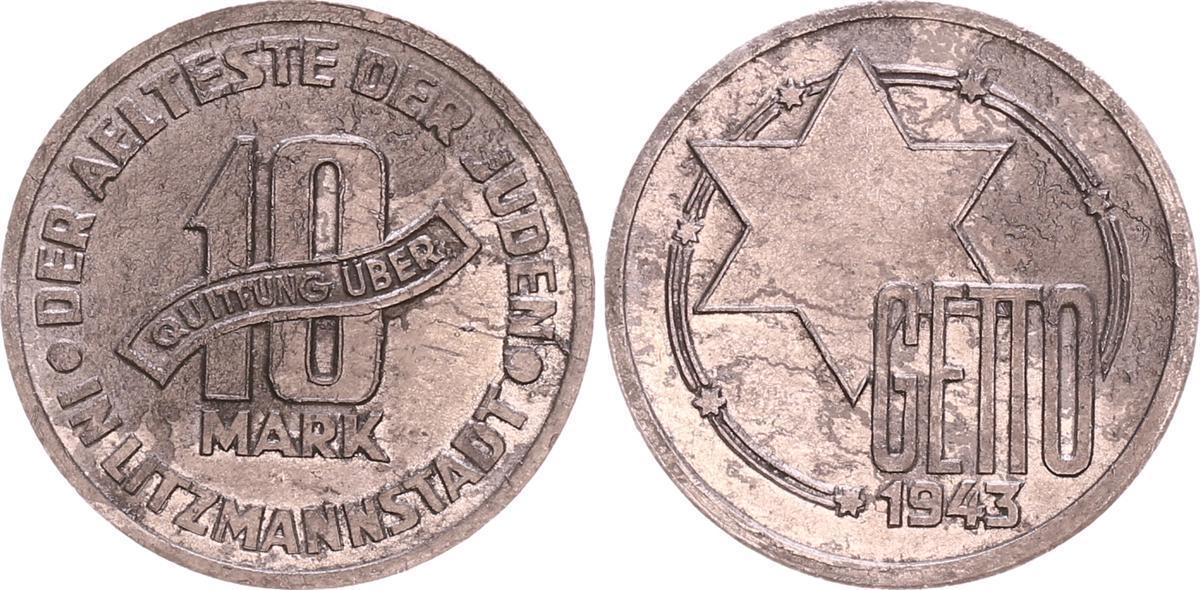 10 Mark 1943 Deutschland / Polen / Getto Litzmannstadt Getto ...