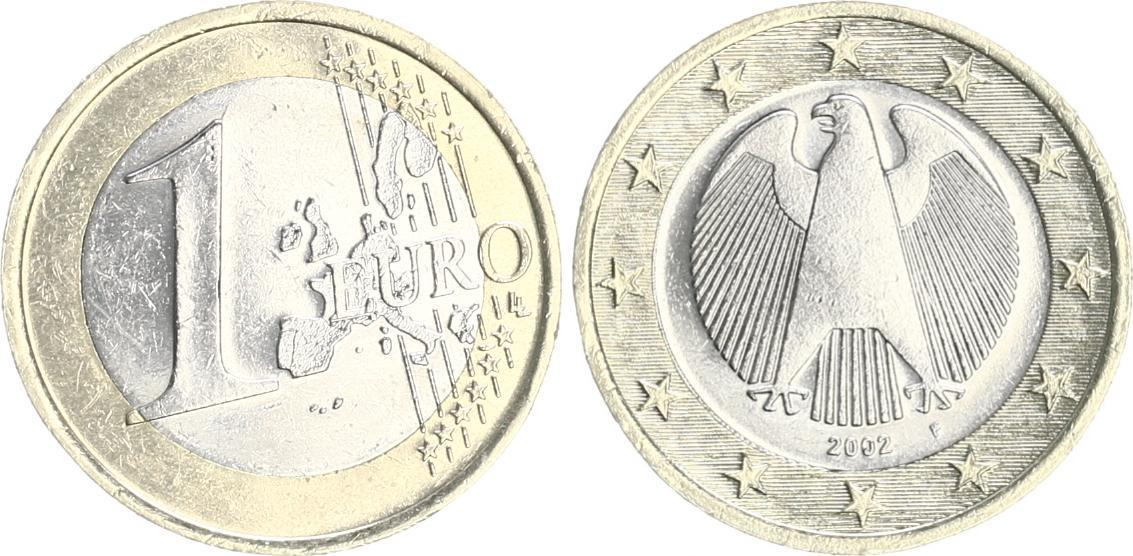 1 Euro 2002 F Deutschland Deutschland 1 Euro 2002f Probe Bzw