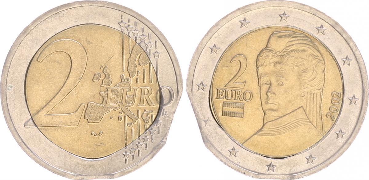 Fehlprägung 2 Euro 2002 österreich Fehlprägung 2 Euro 2002