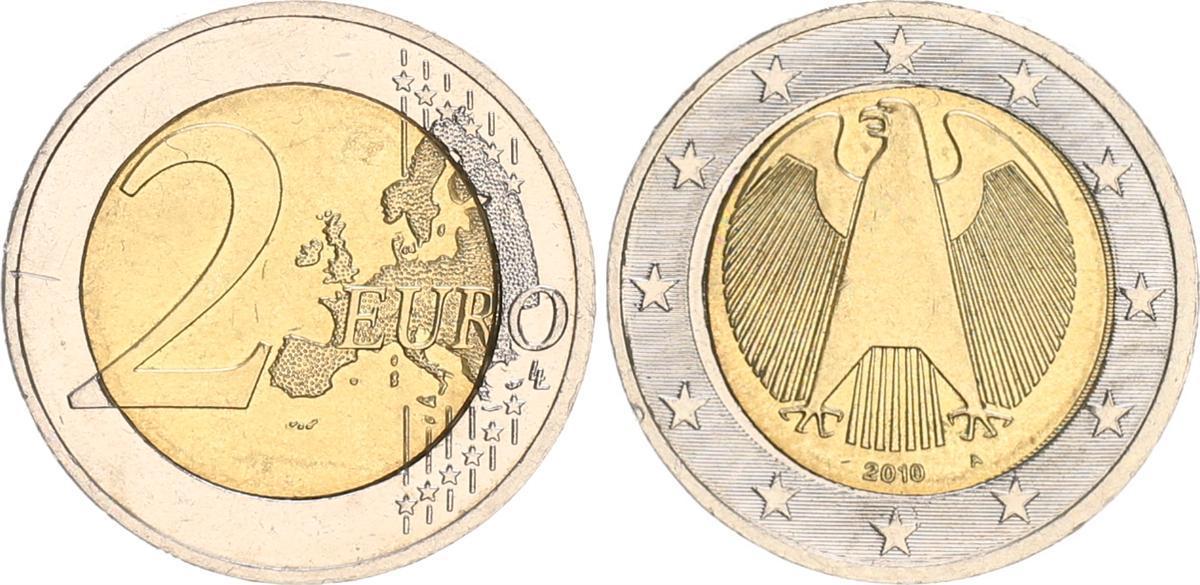 2 Euro Deutschland Falsche Pille Nur 77g 2010 A Deutschland 2