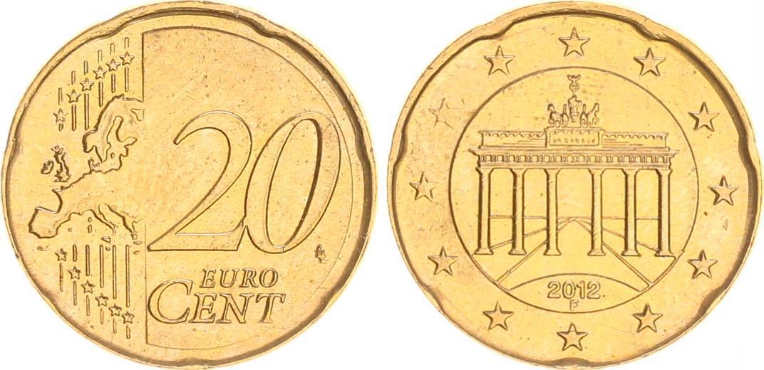 20 Cent Probefehlprägung Fremdschrötling 2012f Deutschland