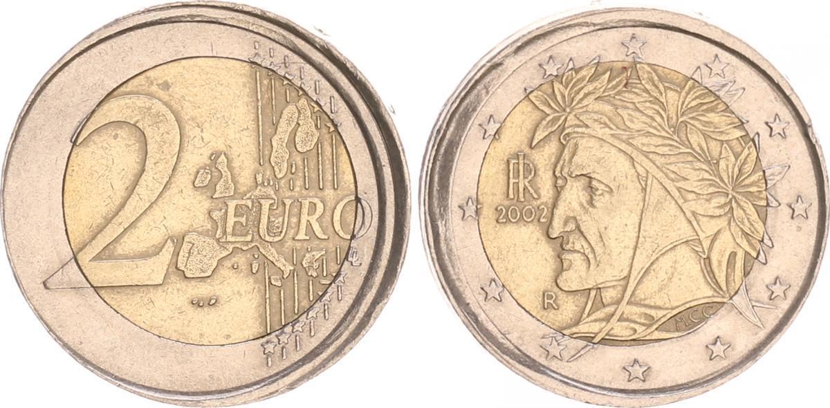 2 Euro Fehlprägung 2002 R Italien Italien 2 Euro Fehlprägung 5 10