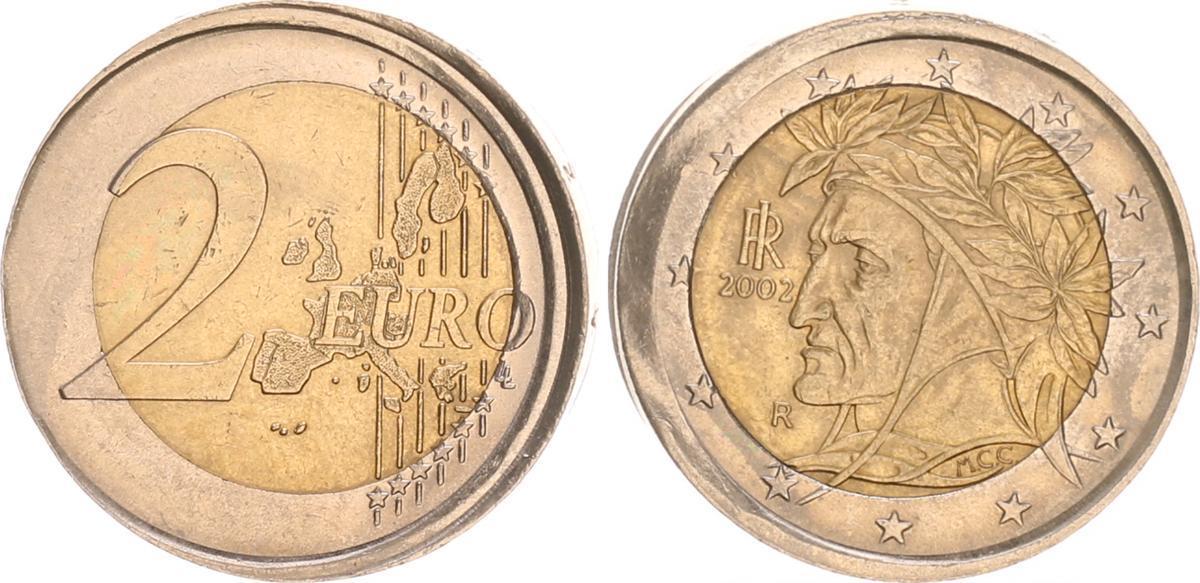 2 Euro Fehlprägung 2002 R Italien Italien 2 Euro Fehlprägung 5