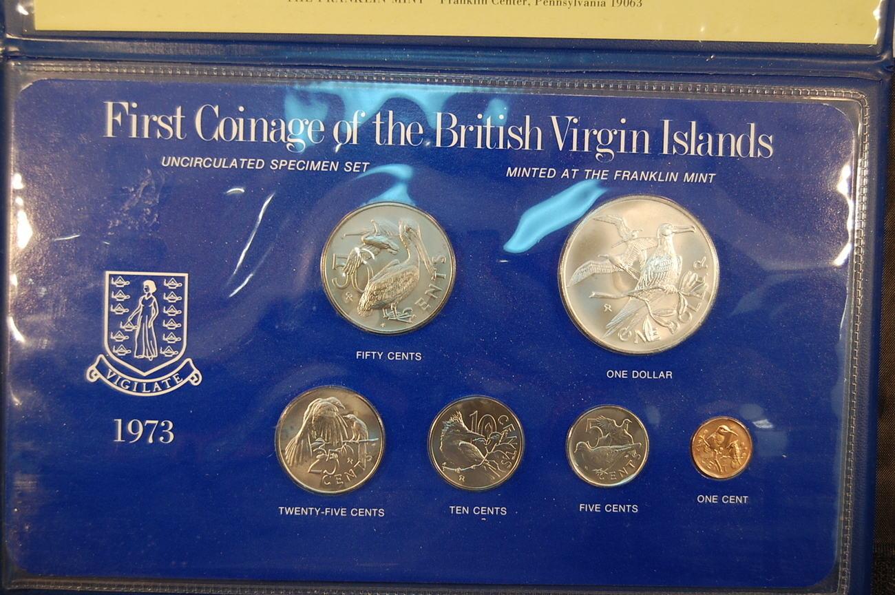 Kms 1973 1973 Virgin Islands Virgin Islands 1973 6 Münzen Erste