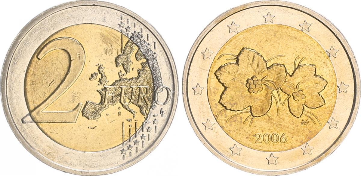 2 Euro Fehlprägung Falsche Landkarte 2006 Finnland Finnland 2 Euro