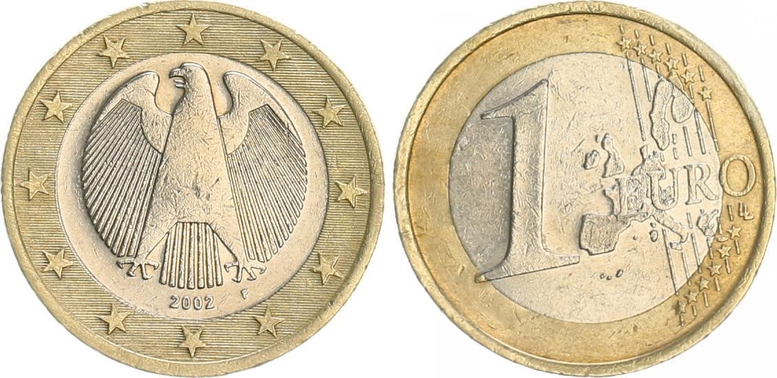 1 Euro Probe Quotdrehende Sternequot 2002f Deutschland 1 Euro