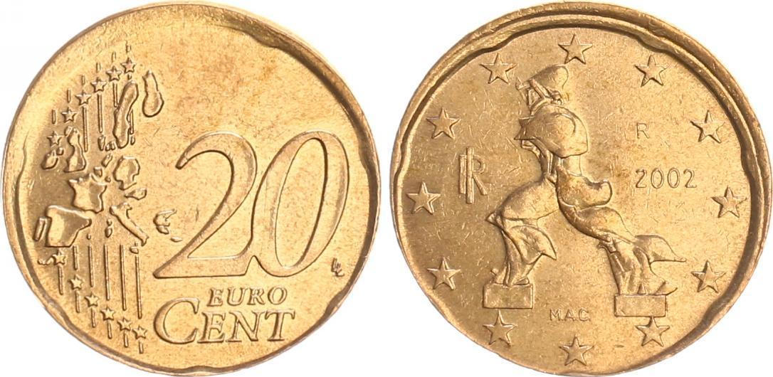 20 Cent Fehlprägung 2002 R Italien Italien 20 Cent Fehlprägung