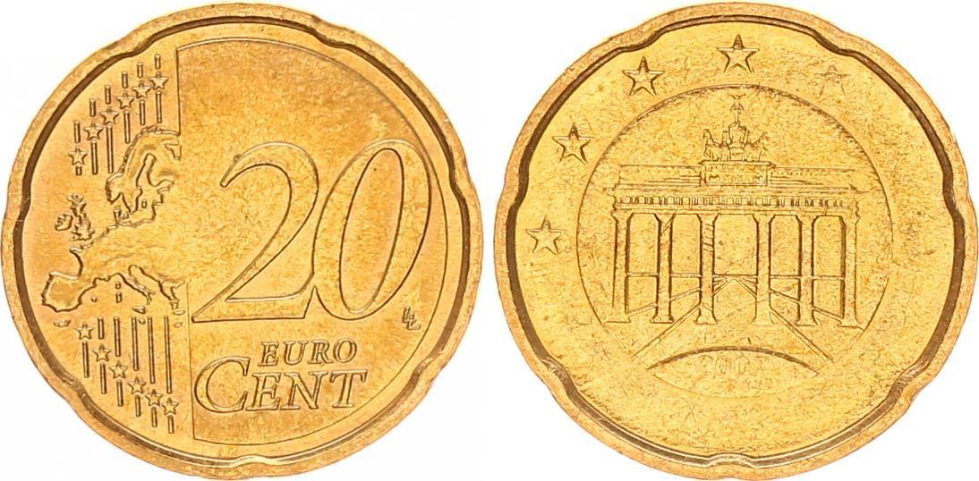 20 Cent Fehlprägung Prägeschwäche 2007 Deutschland