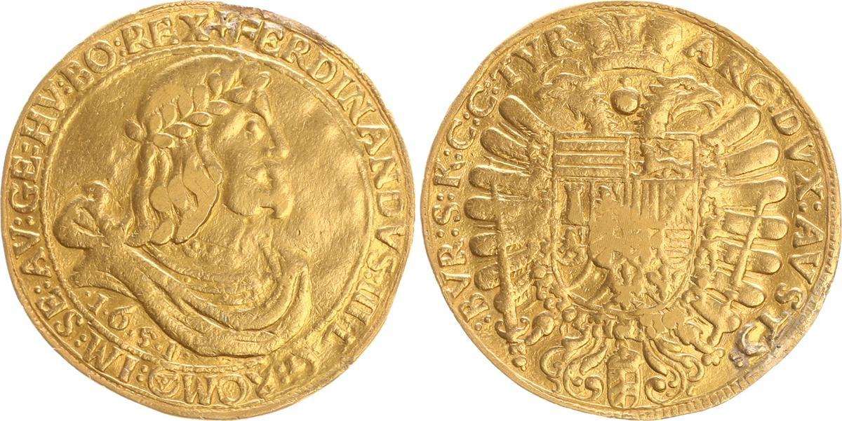 10 Dukat Ferdinand Iii 1651 Deutschland österreich österreich 10