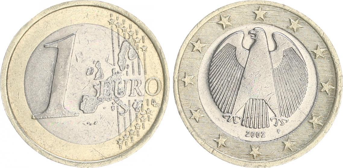 1 Euro Drehende Sterne 2002 F Deutschland Deutschland 1 Euro 2002f