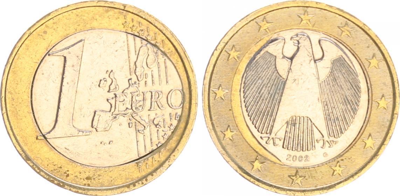 1 euro fehlpr gung 2002 g deutschland bundesrepublik 1 for Sitzkissen gunstig 1 euro