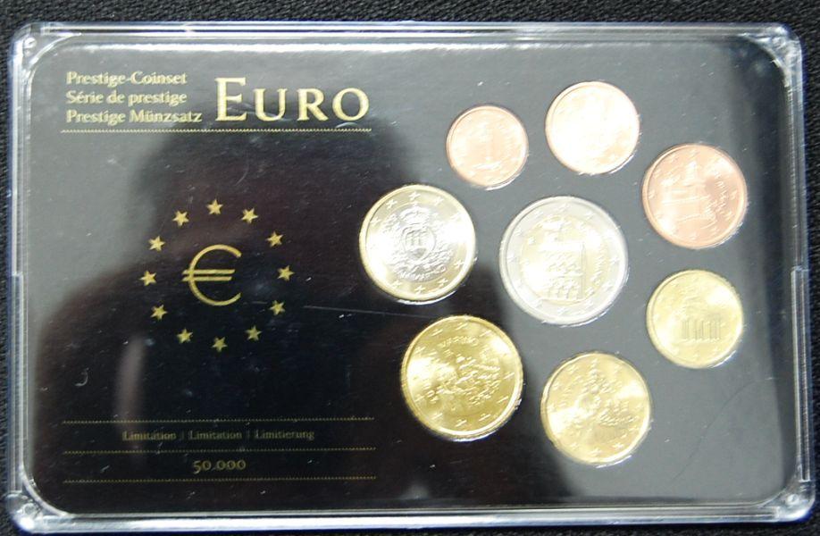 KMS 1 Cent bis 2 Euro San Marino San Marino Kursmünzen 1 Cent bis 2 ...