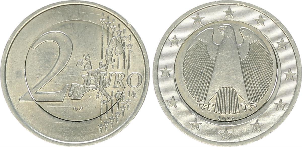 1 Euro Münze 2002 Fehlprägung Deutschland Lerepairedugame
