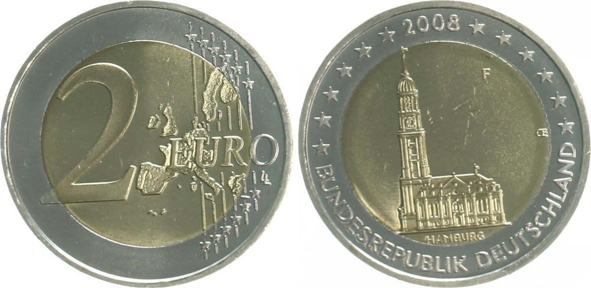 2 Euro Hmichel Fehlprägung 2008 Bundesrepublik Deutschland 2 Euro