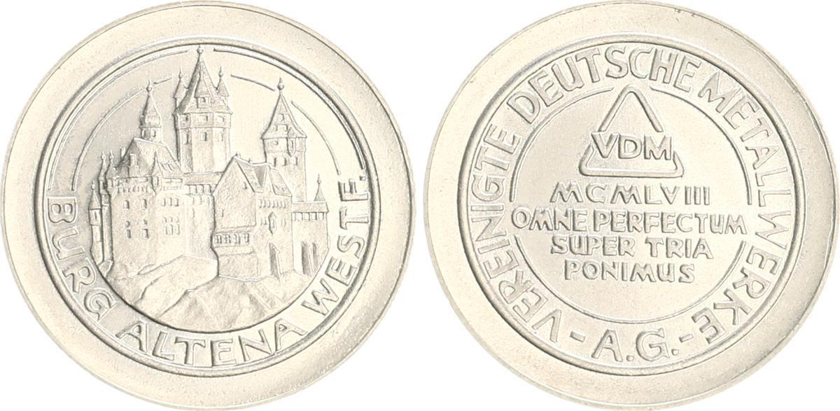 Probeprägung In 2 Dm Größe Mit Randschrift Ca 1970 Deutschland