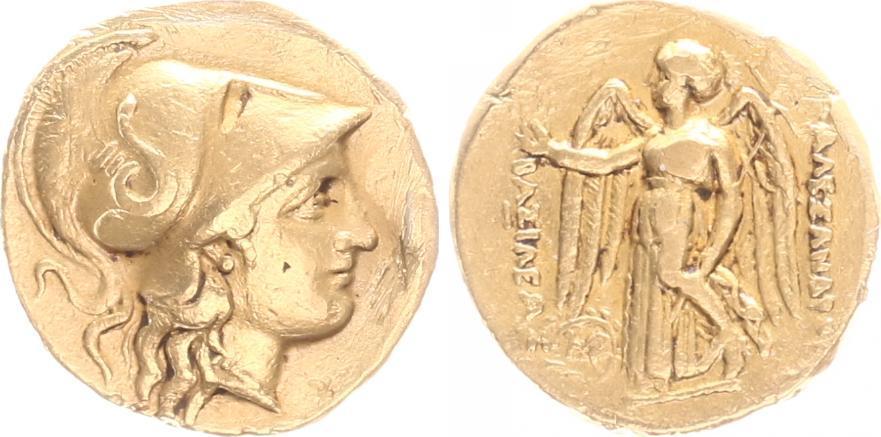 Goldstater Alexander Der Große 336 323 Vchr Antikes Griechenland