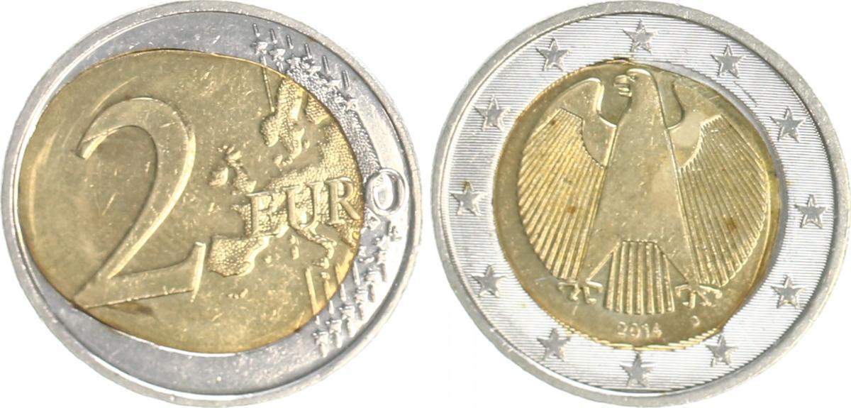 Fehlprägung 2 Euro Spiegelei 2014d Deutschland Bundesrepublik
