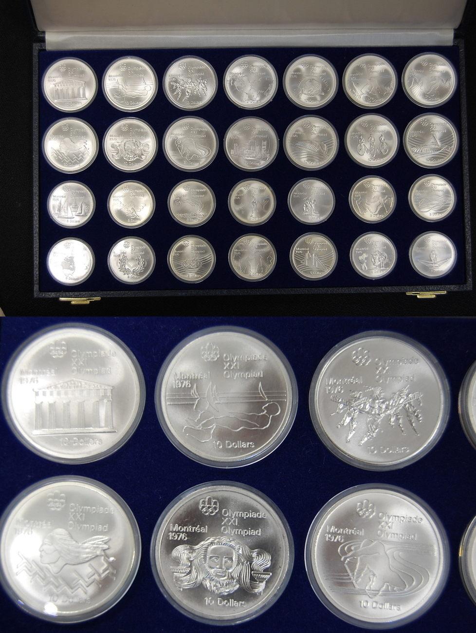 Olympiaserie 1976 28 Münzen 925er Silber 1976 Kanada Kanada