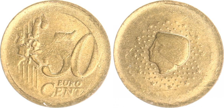 50 Cent Niederlande Niederlande 50 Cent Fehlprägung Vz Rohling