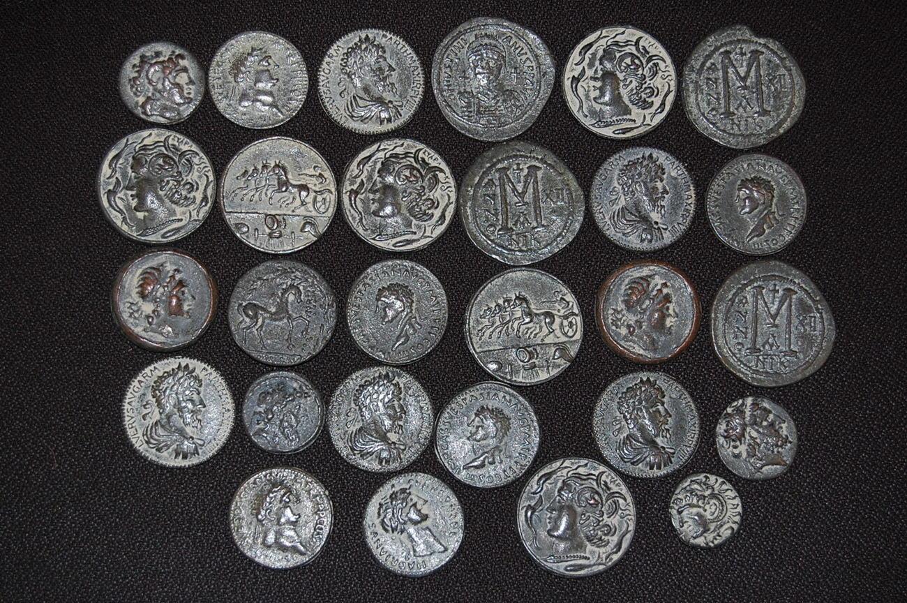 28 Nachprägungen Antiker Münzen Antike Griechen Römer Byzanz