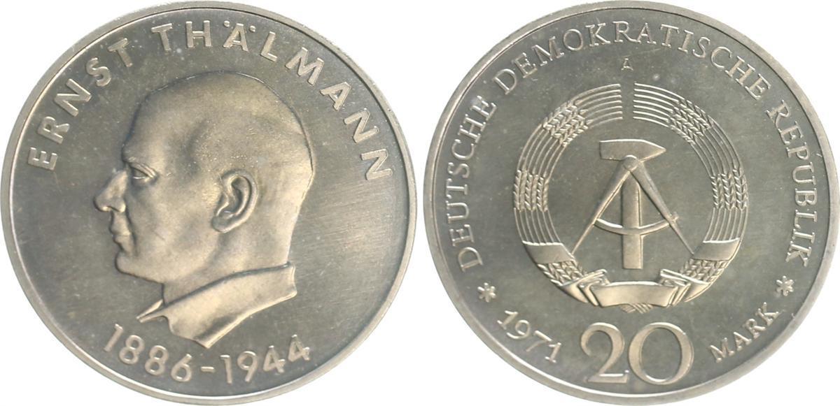 20 Mark Ernst Thälmann 1971 A Deutschland Ddr 20 Mark 1971 A Ernst